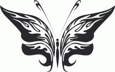 Tribal Butterfly Art 25 Free DXF File