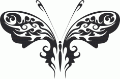 Tribal Butterfly Art 30 Free DXF File