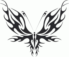 Tribal Butterfly Art 31 Free DXF File