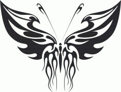 Tribal Butterfly Art 32 Free DXF File