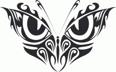 Tribal Butterfly Art 33 Free DXF File