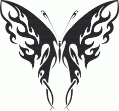 Tribal Butterfly Art 41 Free DXF File