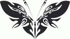 Tribal Butterfly Art 42 Free DXF File