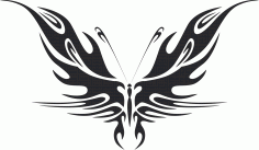 Tribal Butterfly Art 44 Free DXF File