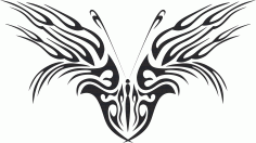Tribal Butterfly Art 46 Free DXF File