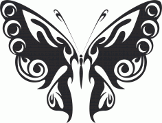 Tribal Butterfly Art 47 Free DXF File