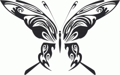 Tribal Butterfly Art 48 Free DXF File