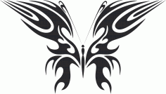 Tribal Butterfly Art 49 Free DXF File