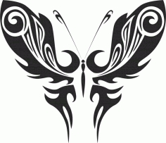 Tribal Butterfly Art 50 Free DXF File