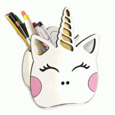 Unicorn Pen Holder Free Vector File