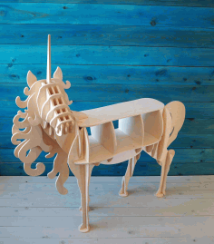 Unicorn Shelf 10mm Laser Cut Cnc Plans Free DXF File