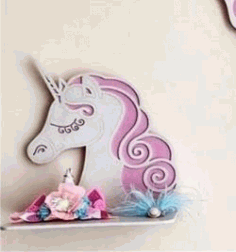 Unicorn Shelf For Laser Cut Free DXF File