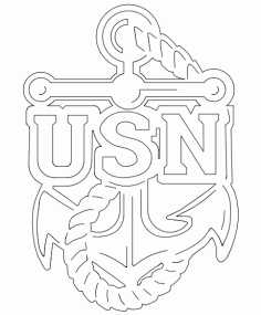 Usn Anchor Logo Free DXF File