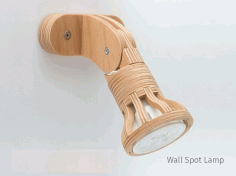 Wall Mounted Wooden Laser Cut Lamp Free Vector File