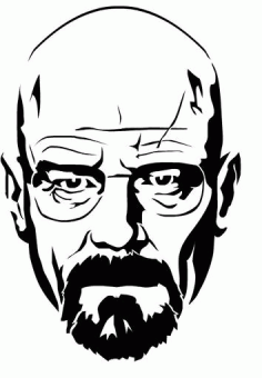 Walter White Heisenberg From Breaking Bad Stencil Free DXF File