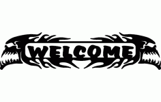 Welcome Skulls Free DXF File
