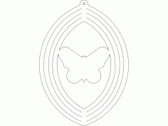 Wind Spin Butterfly Free DXF File