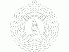 Wind Spinner Wolf Free DXF File
