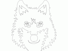 Wolf Face Free DXF File