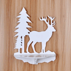 Wooden Animal Shape Wall Mounted Shelves Free DXF File