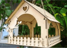 Wooden Bird Houses For Laser Cut Cnc Free DXF File