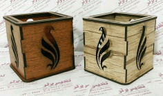 Wooden Box For Pens Pencils Free Vector File