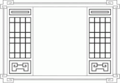 Wooden Cabinet Front Pattern For Laser Cut Cnc Free DXF File