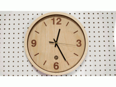 Wooden Clock Laser Cut Free DXF File