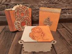 Wooden Designer Box Laser Cutting Cnc Free Vector File