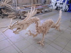 Wooden Dinosaur 3d Puzzle Free DXF File