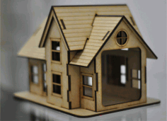 Wooden House Toy Template Free DXF File