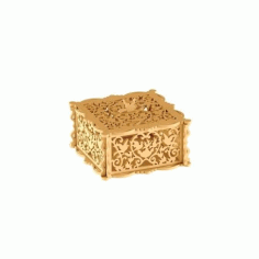 Wooden Jewelry Box Laser Cut Free DXF File