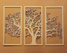 Wooden Tree Wall Hanging Cnc Free DXF File