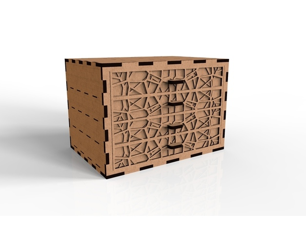 Amazing Wooden Box Laser Cut Free DXF File