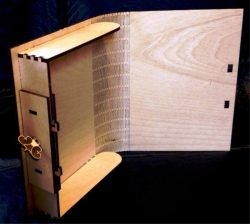 Book Shaped Souvenir Box For Laser Cut Free DXF File