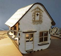 Box House Model For Laser Cut Cnc Free DXF File