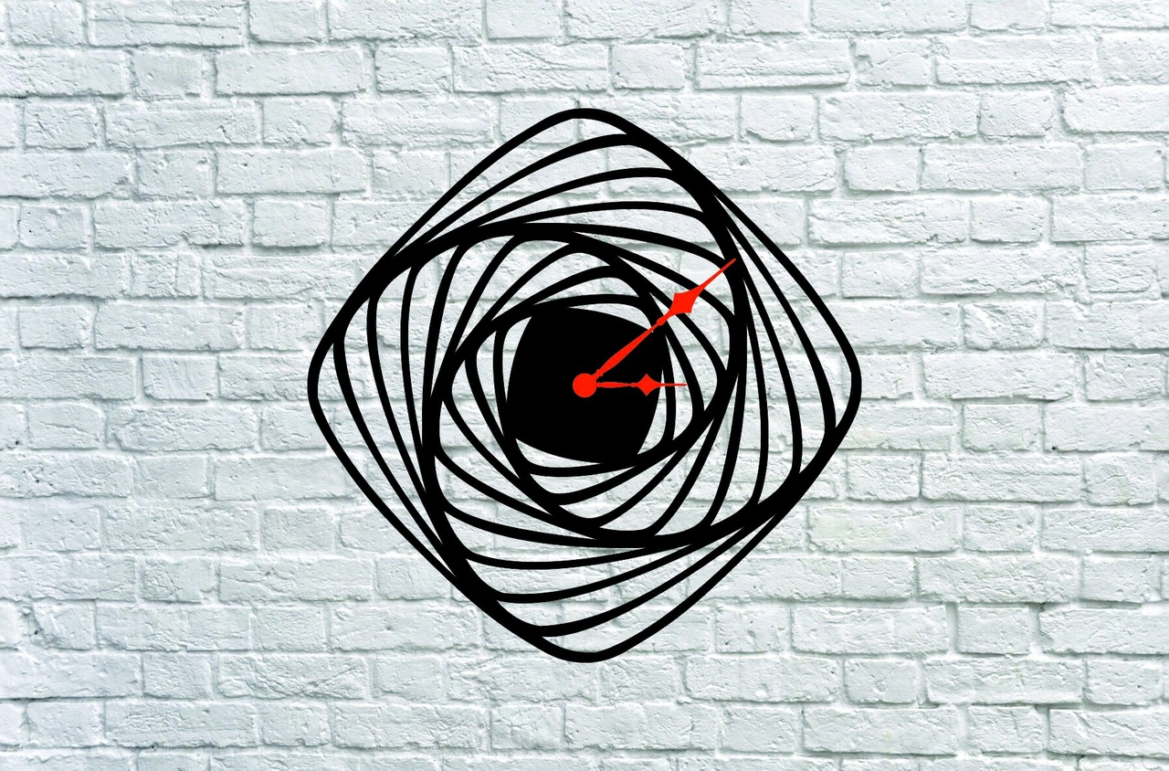 Chasy Spiral Clock Laser Cut Project Idea Free DXF File