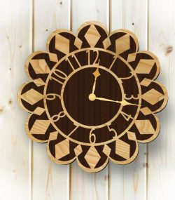 Clock Shaped Sunflower For Laser Cut Plasma Free DXF File