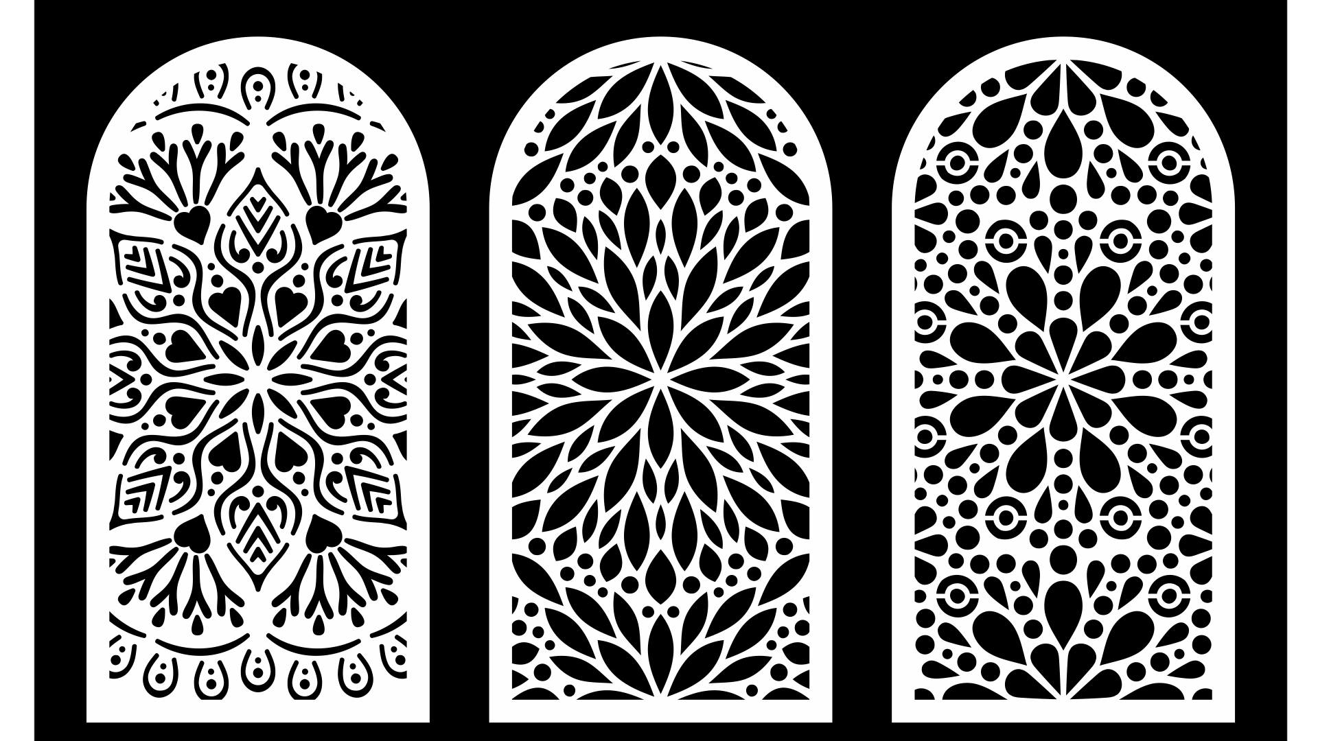 Cool Decorative Screens Panels Laser Cut Free DXF File