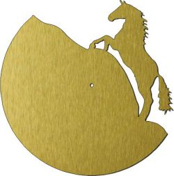 Horse Shaped Wall Clock For Laser Cut Plasma Free DXF File
