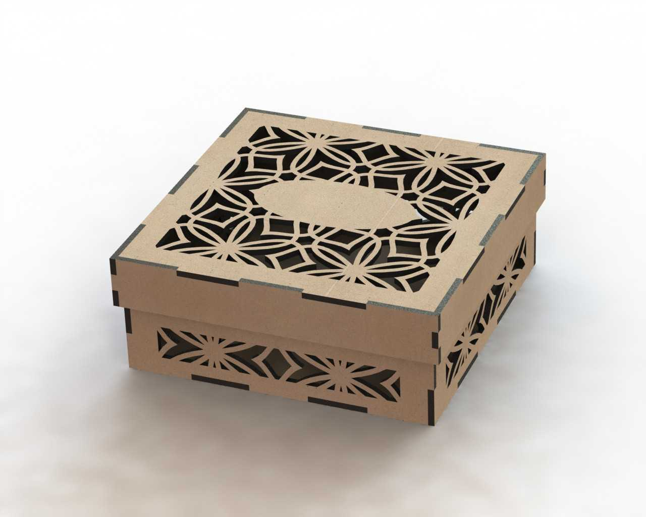 Laser Cut Box Template Free DXF File