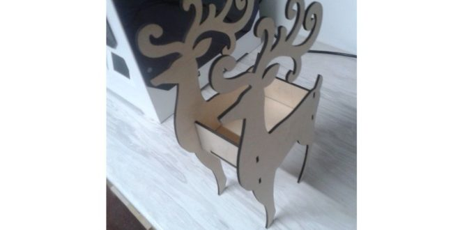 Laser Cut Deer Box (4mm) Free DXF File