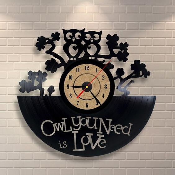 Owl You Need Is Love Clock Free DXF File