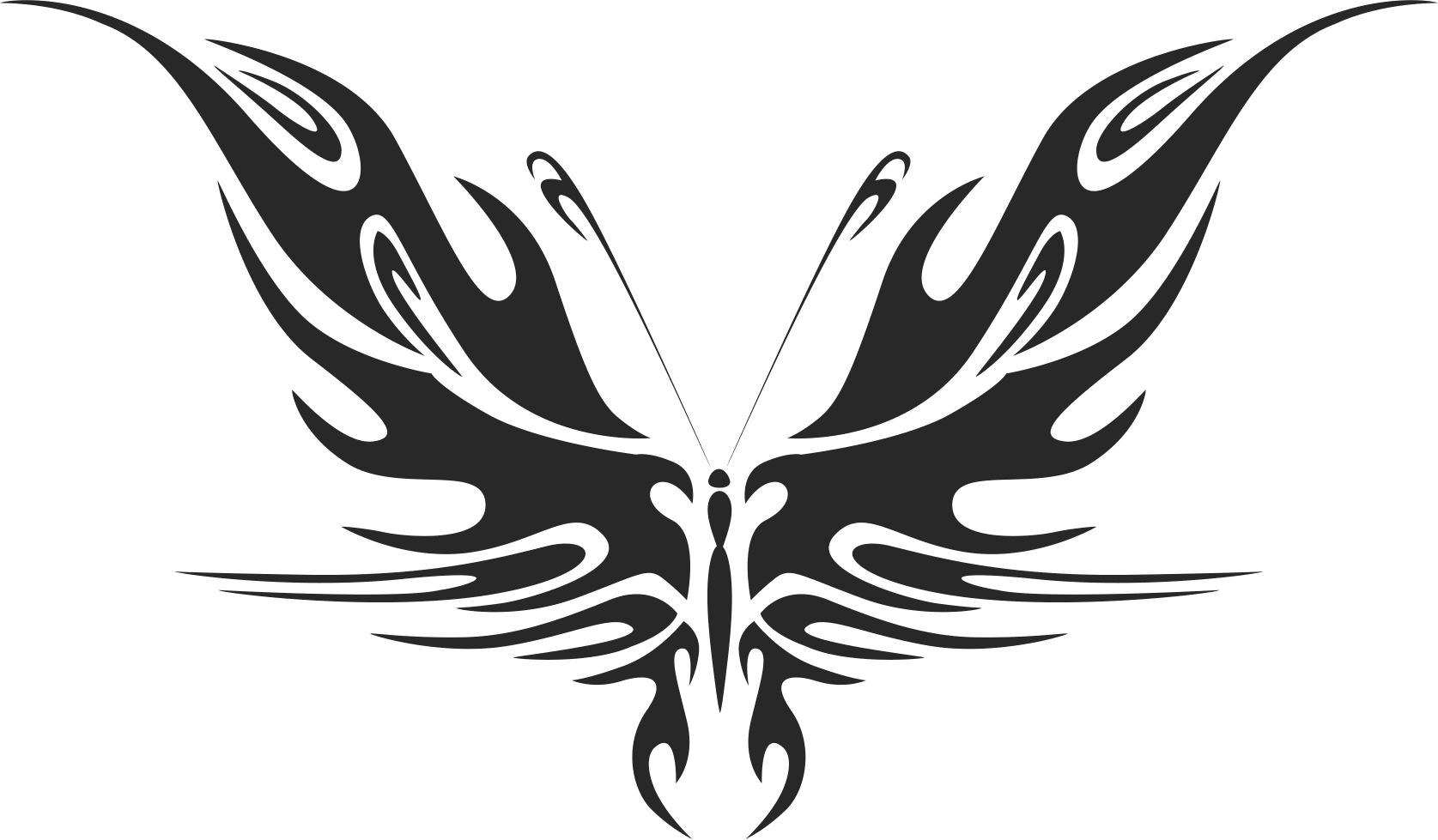 Tattoo Tribal Butterfly Plasma Art Free DXF File