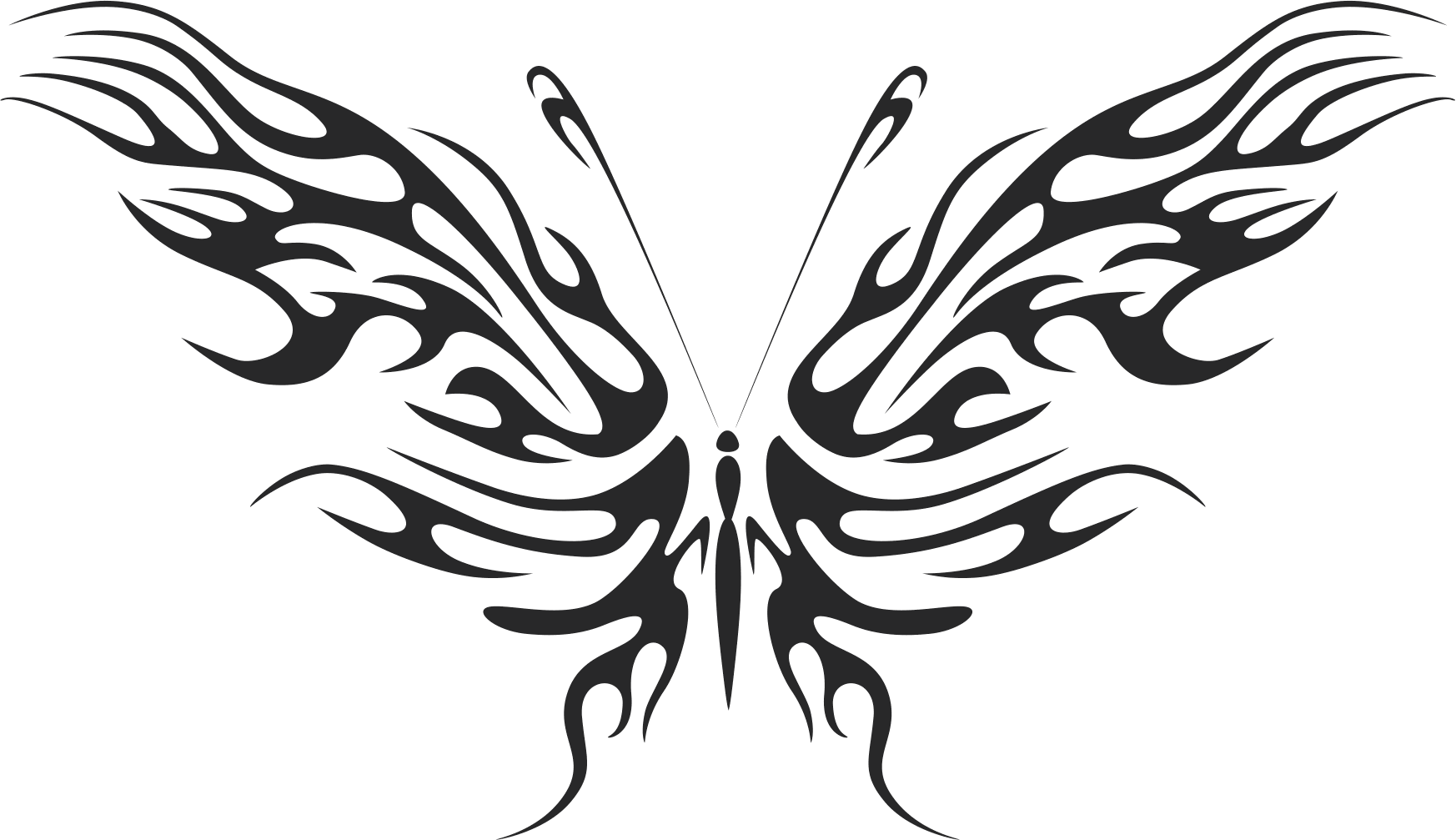 Tribal Butterfly Art 09 Free DXF File