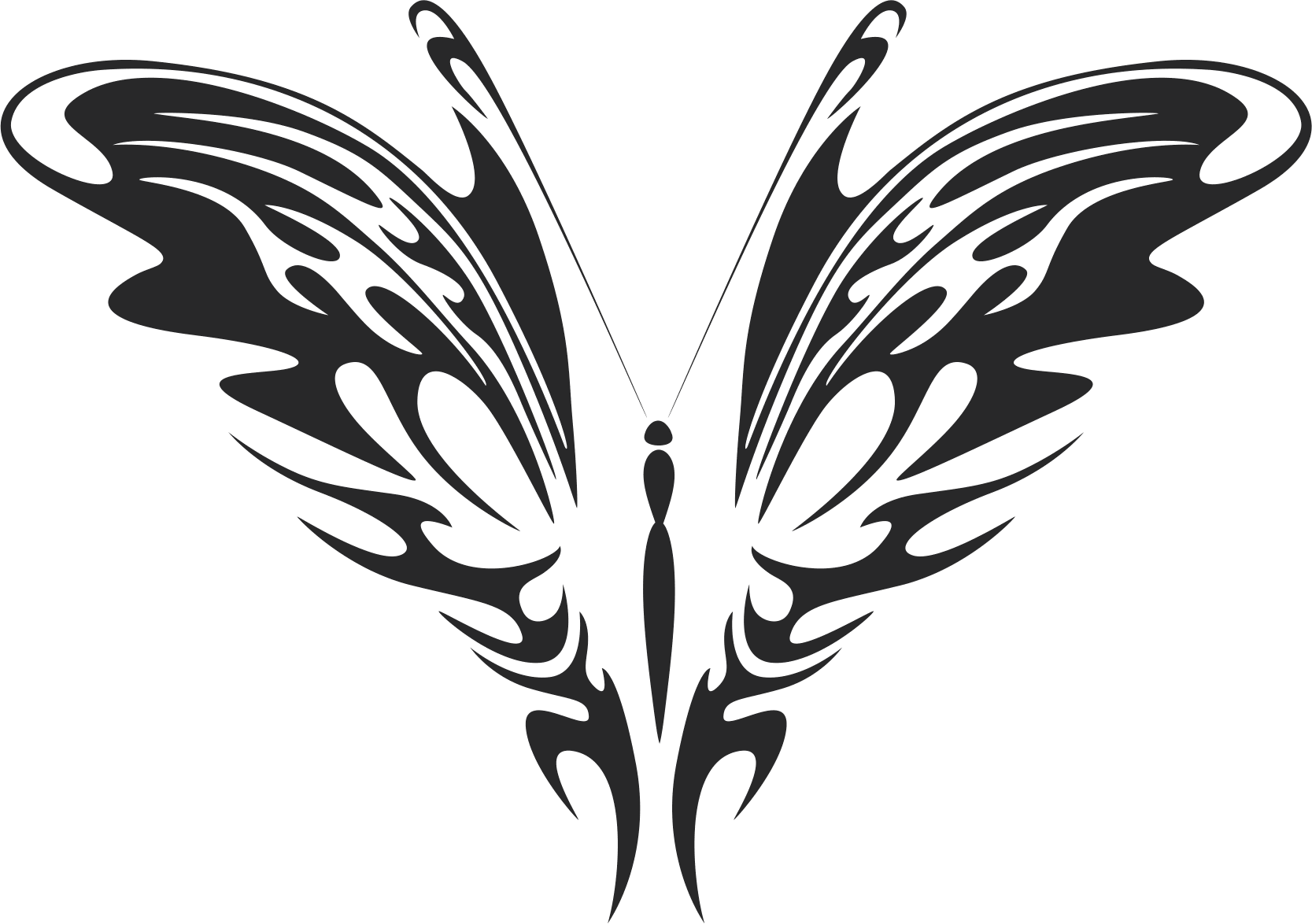 Tribal Butterfly Art 26 Free DXF File
